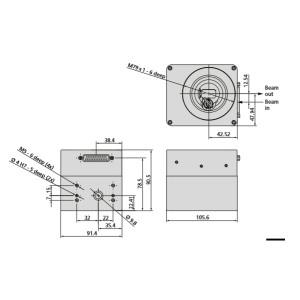 SCANLAB BasicCube/ScanCube China 2 Axis Laser Galvo Scanner Head